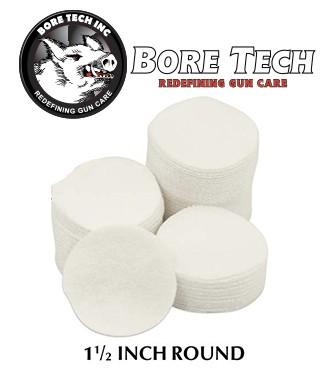 Parches de limpieza BoreTech circulares de 1 12''