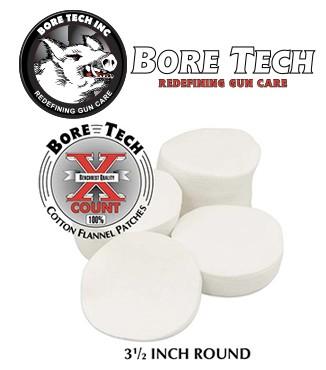 Parches de limpieza BoreTech circulares de 3 12''
