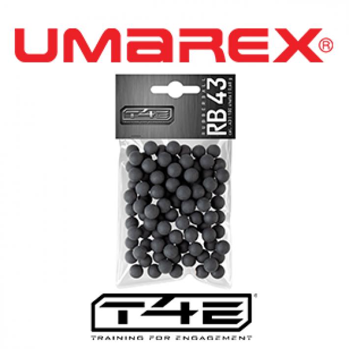 Bolas de goma Umarex T4E RB .43 0.72 g - 100 unidades