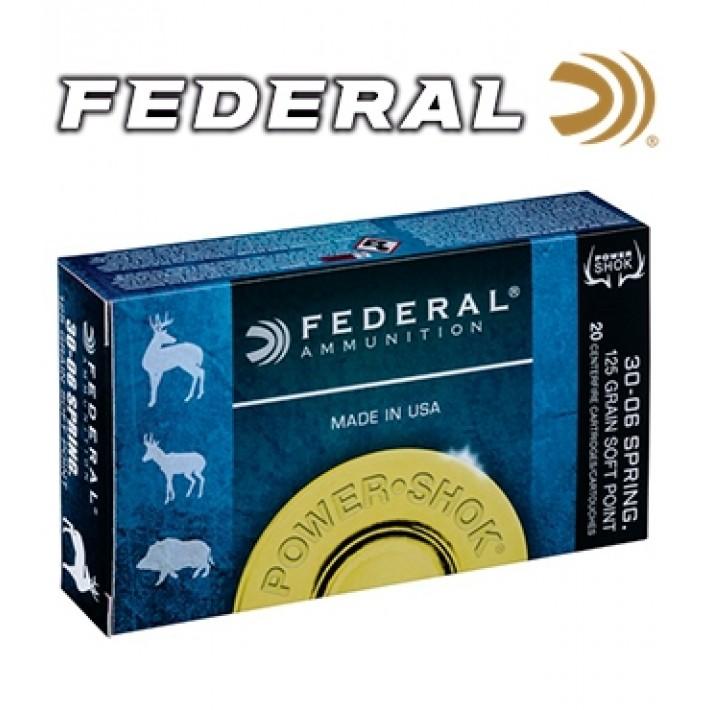 Cartuchos Federal Power Shok .30-06 Springfield 220 grains SP