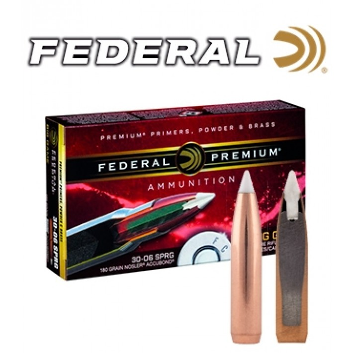 Cartuchos Federal Premium .30-06 Springfield 180 grains Accubond