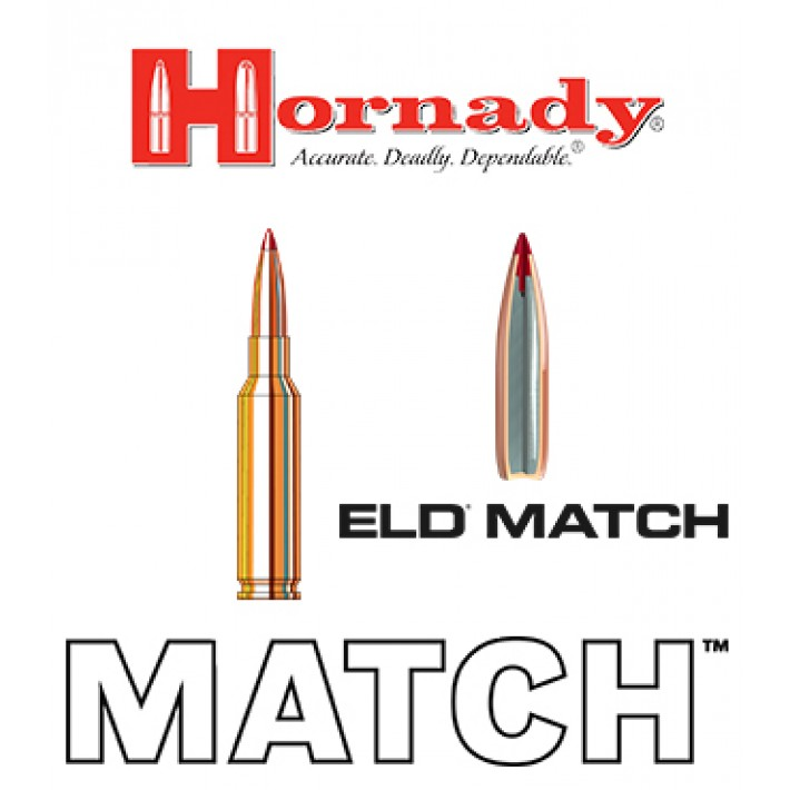 Cartuchos Hornady Match 6.5 Creedmoor 120 grains ELD Match