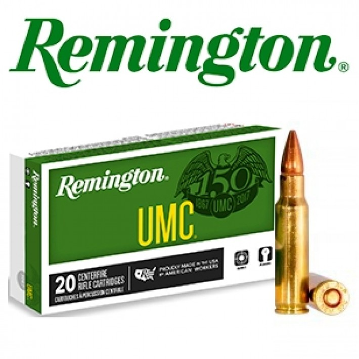 Cartuchos Remington UMC 6.8mm Remington SPC 115 grains FMJ