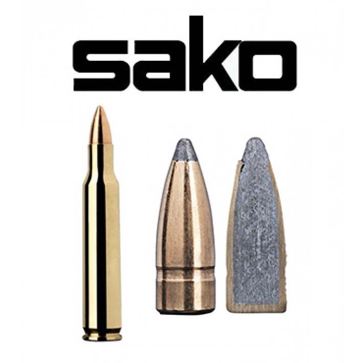 Cartuchos Sako .222 Remington Magnum 55 grains Gamehead (ammo)