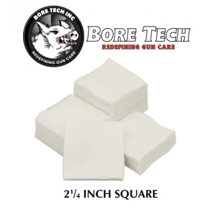 Parches de limpieza BoreTech cuadrados de 2 1/4''