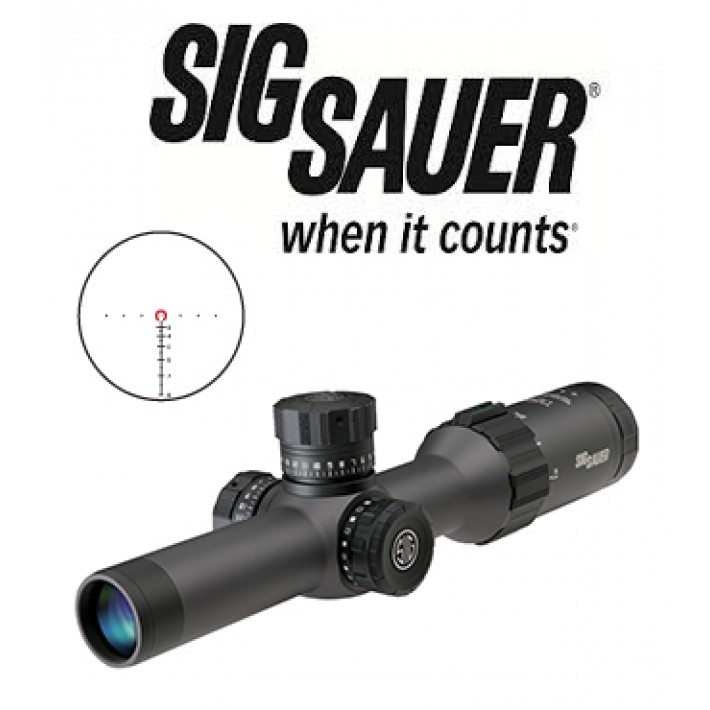 Visor Sig Sauer Electro Optics Tango 6 1-6x24 de 30mm con retícula iluminada 5.56 / 7.62 Horseshoe y primer plano focal