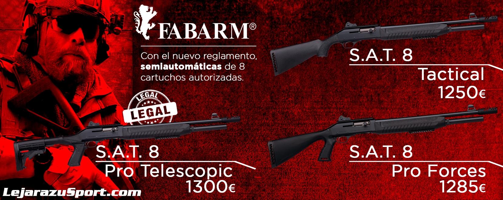 Comprar escopetas Fabarm SAT8 en LejarazuSport.com
