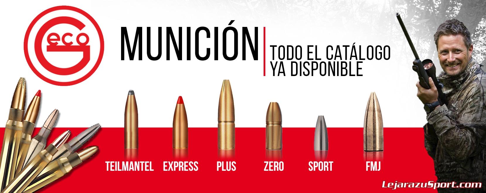 Todas las balas Geco en LejarazuSport.com Munición Geco, Balas Geco, Cartuchos Geco
