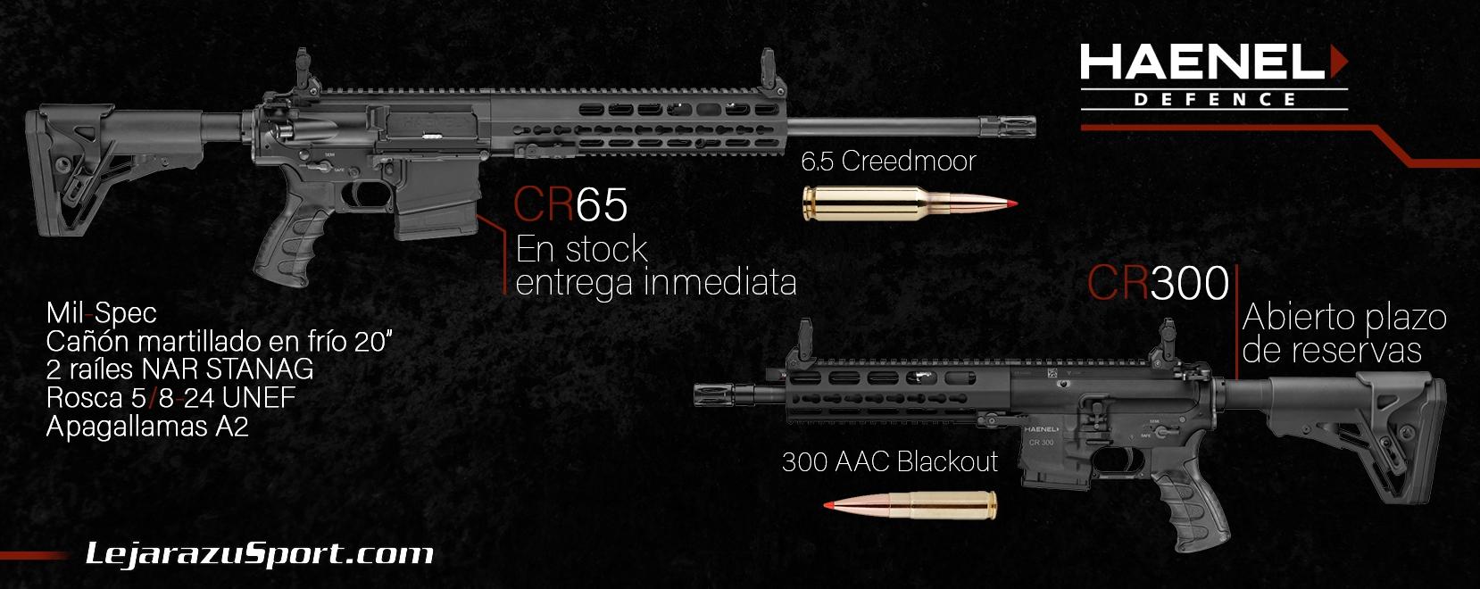 Nuevos rifles Haenel CR65 y CR300 en LejarazuSport.com