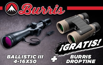 Promoción Burris Ballistic + Burris Droptine GRATIS en LejarazuSport.com